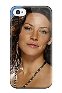 iphone covers High Quality Shock Absorbing Case For Iphone 6 plus-evangeline Lilly Smile Blue Sky Clouds Black Face Head Hair Lost People Women