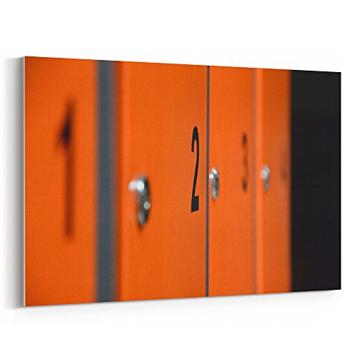 Westlake Art - Locker Door - 12x18 Canvas Print Wall Art - Canvas Stretched Gallery Wrap Modern Picture Photography Artwork - Ready to Hang 12x18 Inch (D41D8)