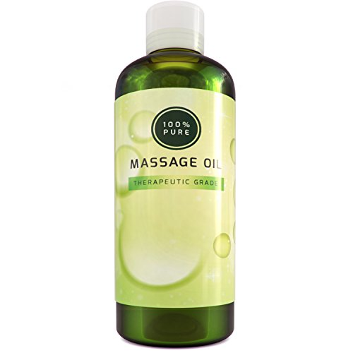 Natural Unscented Massage Oil (100% Pure Coconut Oil for Skin Spa Massage Unscented Carrier Oil and Sensual Massage Therapy Relaxing Formula for Dry Sensitive Skin Soothing Natural Cold Pressed Healing Body Oil for Men and Women)