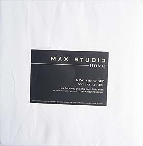 amazon com max studio bedding 4 piece king sheet set