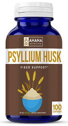 Psyllium Husk Capsules – Daily Fiber Supplement, Helps Relieve Constipation & Aids Weight Loss (Non-GMO & Gluten Free)
