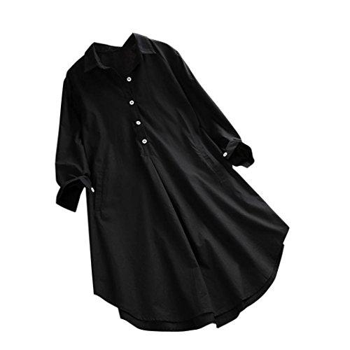 Blouse Chemise Noir lache Longues Shirt Bringbring Manches Tops Femmes 7qSp4w