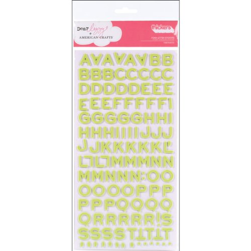 American Crafts Thickers Foam Letter Stickers, Fantastic Limeade ()