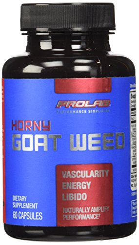 Prolab Horny Goat Weed Extract - for Men and Women - With Yohimbe, Maca & Tribulus to Support Energy, Performance and Healthy Libido, PLUS Ginko Biloba for Focus - 60 Capsules