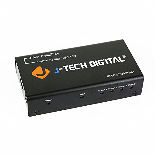 J-Tech Digital TM 4 Ports HDMI 1x4 Powered Splitter Ver 1.3