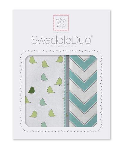 Swaddle Designs Marquisette Swaddling Blanket Chevron (Turquoise) - 4