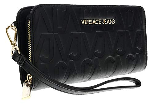 Versace EE3VSBPH1 E899 Black Debossed Large Wallet for Womens
