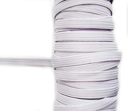Appx 15 Metri 10mmW HAND Icy Bianco Extra Strength Cavo Max Tratto pianeggiante Elastico Spool 140g
