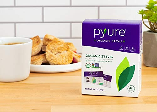 Organic Stevia Sweetener Packets, Sugar Substitute, 40 Count by Pyure (Image #5)