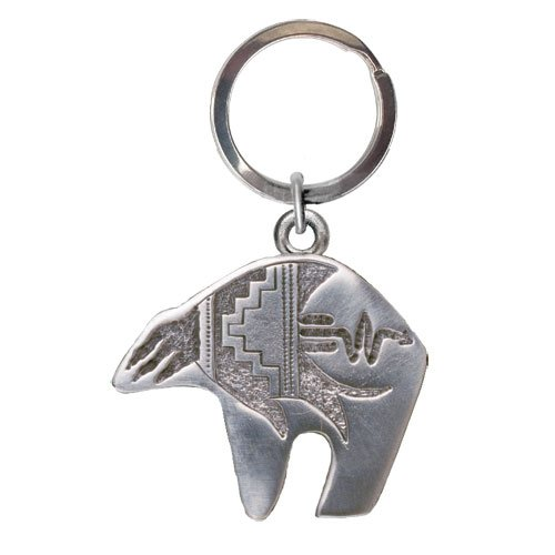1pc, Pewter Bear Fetish Key Chain