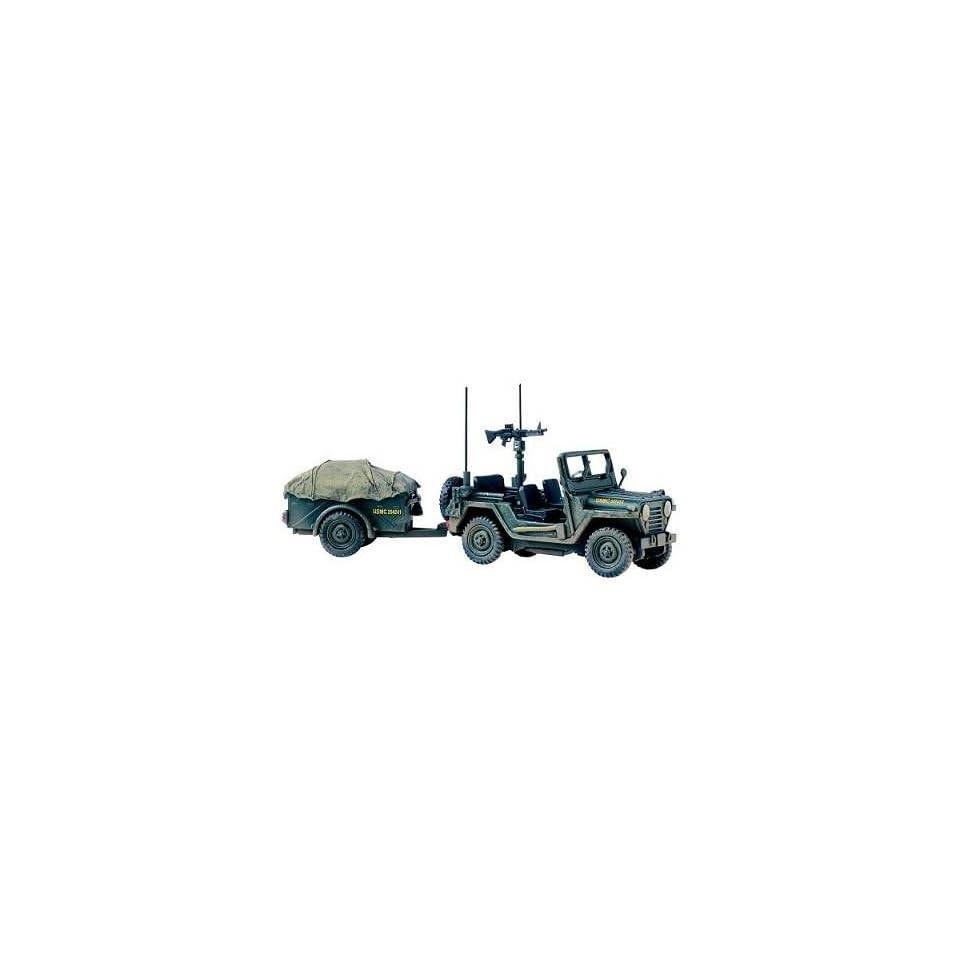 Corgi Unsung Heroes   M151 A1 MUTT Utility Truck with Trailer   USMC #50101 143 scale