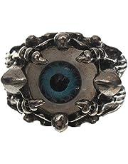 Ring Eye Shaped for Men, Silver