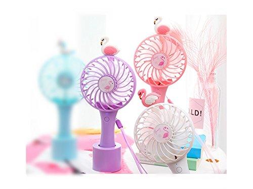 Wesource Creative Creative Animal USB Fan Mini Portable Handheld Fan Desktop Fan USB Charging Fan(White)