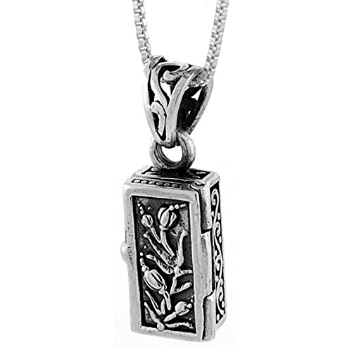 Sterling Silver Prayer Necklace Tulips