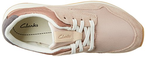 Clarks Floura Mix, Zapatillas para Mujer Beige (Nude Pink Combi)
