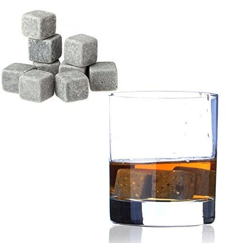 Whisky Ice Stones Drinks Cooler Cubes Whiskey Scotch on the Rocks Granite