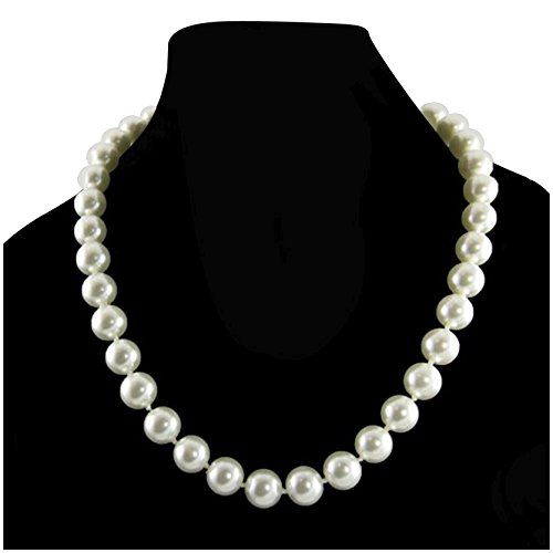 Cream Simulated Necklace Knotted Strand product image