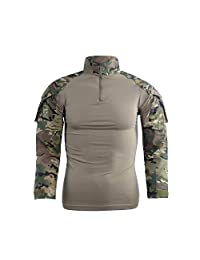 Men's Tactical Shirt Camo Combat T Shirt Military Army Airsoft Hunting T-Shirts