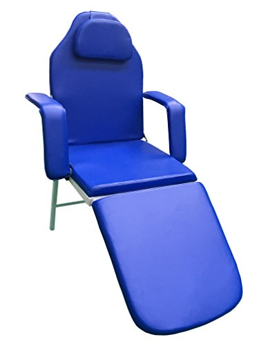 3 Fold Portable Tattoo Facial Bed Beauty Salon Massage Table Chair w/Free Carrying Case (BLUE)