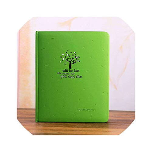 - Photo Albums Cartoon Leather Cover Photo Album 4D Big 6-Inch Photo Baby Children Growing Family Album Insert Type Souvenir Loose-Leaf Album,Green