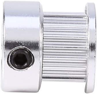 2Pcs Timing Pulleys Wheel 8mm Inner Diameter 20 Teeth for 3D Printer Aluminum Alloy Belt Pulleys