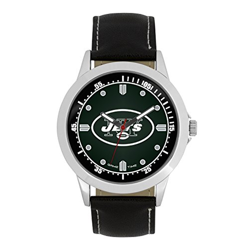 NFL New York Jets Mens Player Series Wrist Watch, Silver, One Size