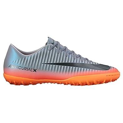 cheap Nike Men's MercurialX Victory VI CR7 TF Turf Soccer Cleat (Sz. 10.5) Cool Grey, Metallic Hematite