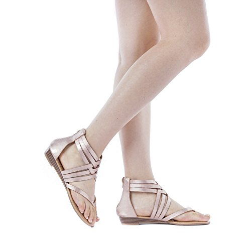Sandals PAIRS DREAM 02 JUULY Flat champagne Women's dI7qwRp7B