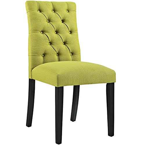 Modway Duchess Fabric Dining Chair in Wheatgrass