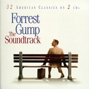 Original album cover of Forrest Gump: The Soundtrack - 32 American Classics On 2 CDs by Various Artists (1994) - Soundtrack Soundtrack Edition (1994) Audio CD by Motion Picture Soundtrack