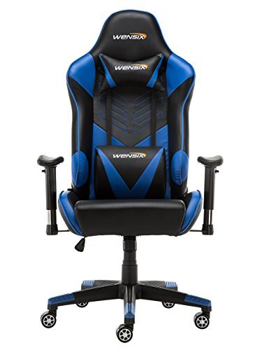 Strange Wensix Gaming Chair Ergonomic Racing Style Video Game Chair High Back Pu Leather Swivel Office Chair Computer Desk Chair With Lumbar Support And Creativecarmelina Interior Chair Design Creativecarmelinacom