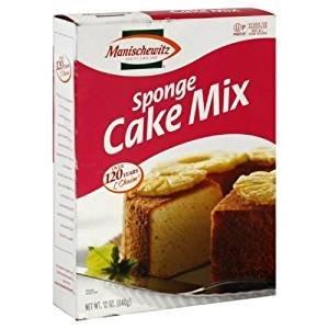 Manischewitz Sponge Cake Mix Kosher For Passover 12 oz. Pack of 3.