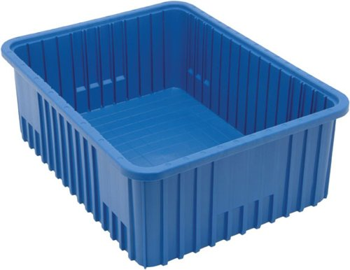Quantum Storage Systems DG93080BL Dividable Grid Container 22-1/2-Inch Long by 17-1/2-Inch Wide by 8-Inch High, Blue, 3-Pack by Quantum Storage Systems
