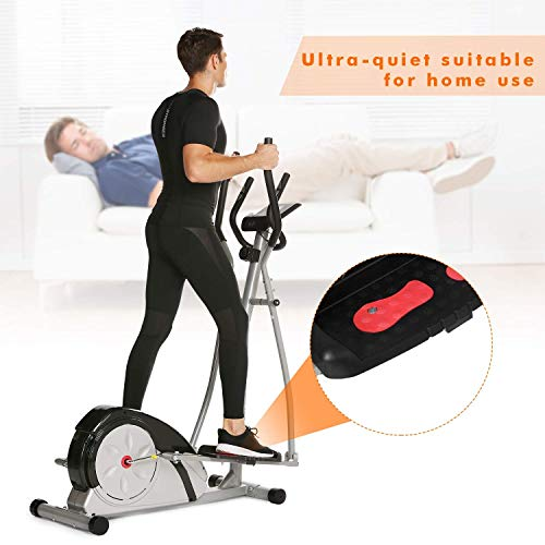Jaketen Elliptical Exercise Machine Magnetic Smooth Quiet Driven Eliptical Trainer Machine for Home Use (Elliptical-Gray) by Jaketen (Image #2)