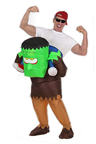Inflatable Ride on Monster Costume Halloween Costumes Party Suit for Mens & Womens Adult Size -
