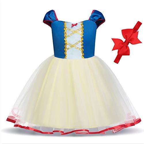 Princess Dresses (Elsa,Snow,Belle,Little Mermaid,Anna,Cinderella,Rapunzel,Aurora) Costumes for Toddler -