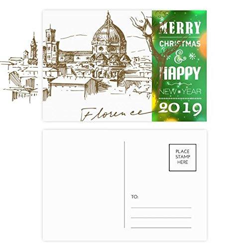 Florence Cathedral Italy Pattern 2019 New Year Postcard Thanks Card 20pcs ()
