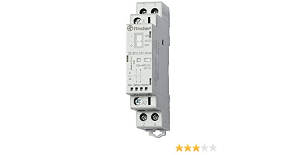 Finder serie 22 Contactor modular contacto abierto+contacto cerrado 230v agsno2 selector indicad