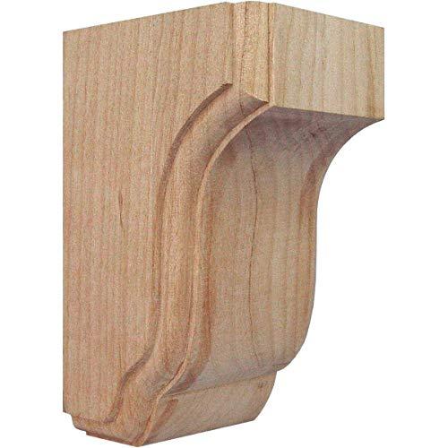 Ekena Millwork COR02X02X04CPRW 2 1/2-Inch W x 2 3/4-Inch D x 4 1/2-Inch H Capistrano Mission Corbel, Rubberwood - Wood Bar Bracket Corbel