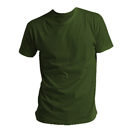Uomo Sols Tinta Salvia Cotone 100 Verde Unita Maglia Girocollo ZZxYC1q
