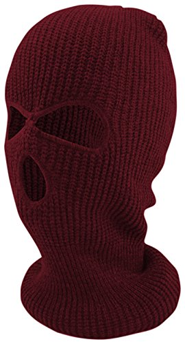 Mask Face Maroon (Enimay Three Hole Ski Snowboard Mask Winter Beanie Balaclavas Maroon)