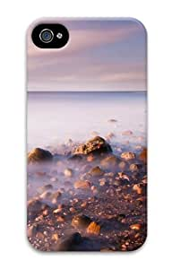 iPhone 4S Cases & Covers - Misty Sea 3D Design Custom PC Hard Case Cover Compatible with iPhone 4S and iPhone 4