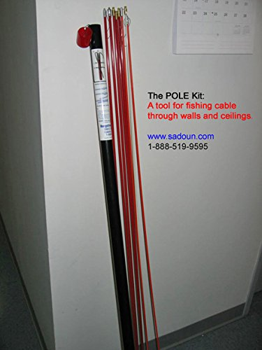 Bergstrom POLE kit A tool for fishing cable through walls and ceilings.