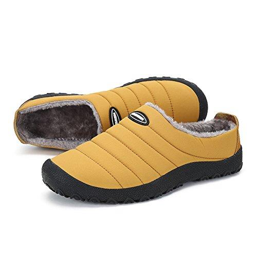 Pantofole Da Donna In Cotone Da Uomo Pengcheng Caldo Foderato In Pelliccia Caldo Slip On Scarpe Per La Neve Inverno Allaperto Camel Indoor