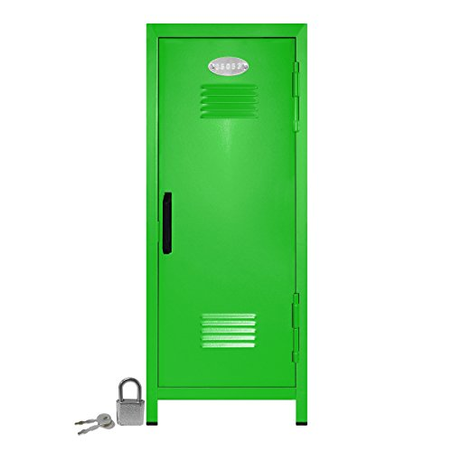 Mini Locker with Lock and Key Lime -10.75