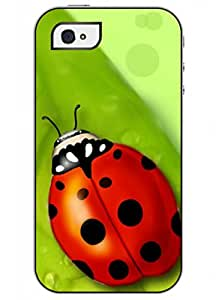 OUO Unique Fashion Design Snap on Iphone 4 4S 4G Hard Shell Case with Picture of Clear Beetle