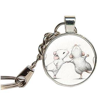 Mouse llavero con diseño de ratón, regalo para los amantes ...