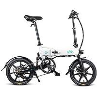 Fiido D2s Bicicletta Elettrica Pieghevole, E-Bike Elettrica Semovente da 16 Pollici Piccoli Scooter con Batteria al Litio da 7,8ah(velocità variabile)