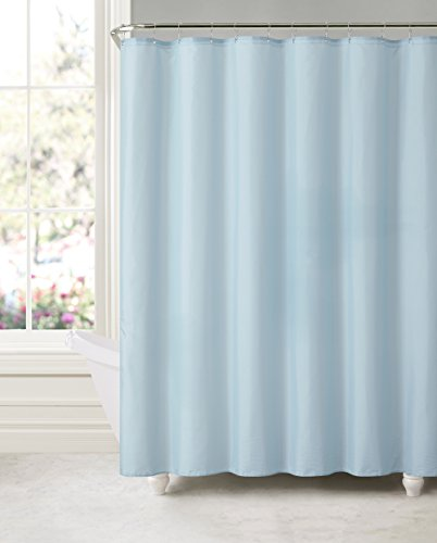 Royal Bath Sky Blue Water Mildew Resistant Fabric Shower Curtain Liner 70 X 72 With