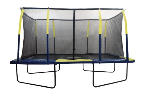 Upper Bounce Easy Assemble Spacious Rectangular Trampoline with Fiber Flex Enclosure Feature, 9 x 15-Feet